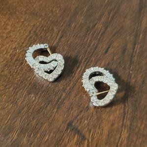 Swarovski Heart Huggie Hoop Earrings